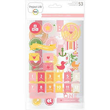 Project Life Stickers-Baby Girl Range