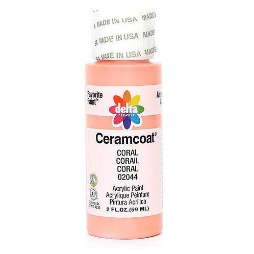 Coral-Ceramcoat Paint