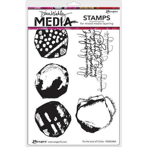 Dina Wakley Media Stamp-For The Love Of Circles
