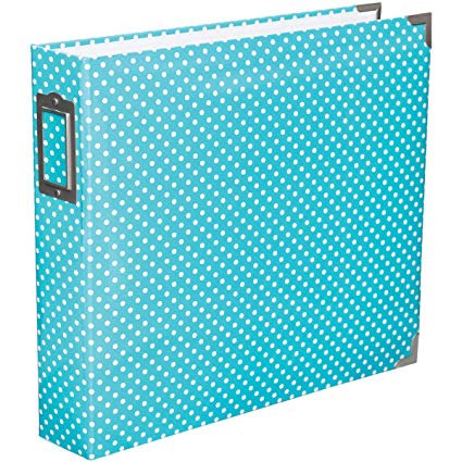 12x12 Project Life Album Blue/green white spots