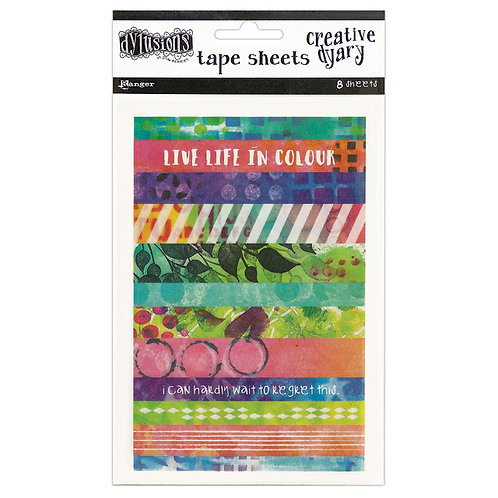Creative Dyary Tape Sheets Stickers Multi colour - Dylusions
