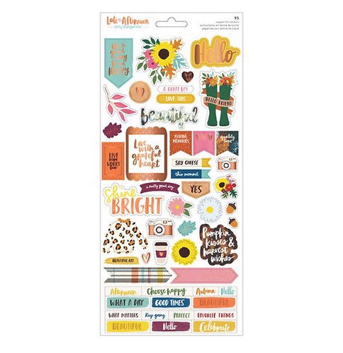 6x12 Sticker sheet- Late Afternoon Amy Tangerine
