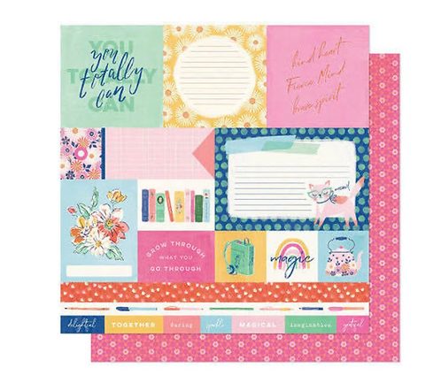 You Totally Can 12x12 patterned paper she's magic