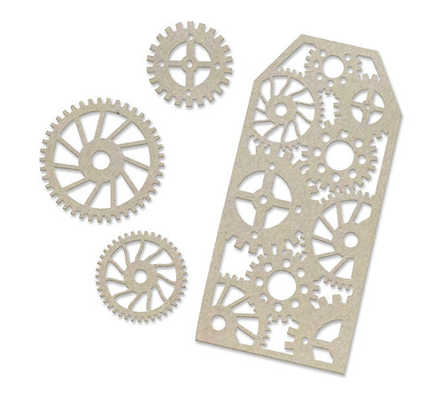 Tags and Gears Chipboard Set