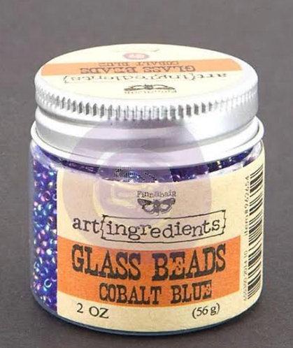 Glass beads -cobolt blue