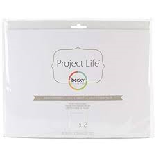 8x10 Page Protectors -Horizontal project life