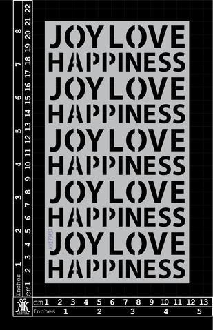 Joy, Love, Happiness Stencil - Kinder Kreations