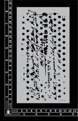 Script Texture small Stencil - Kinder Kreations