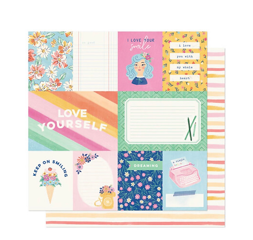 A Simple Hello 12x12 patterned paper she's magic