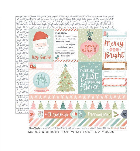 Merry & Bright- Oh What Fun 12x12 patterned paper