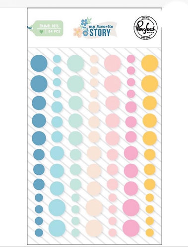 My Favorite Story Enamel Dots