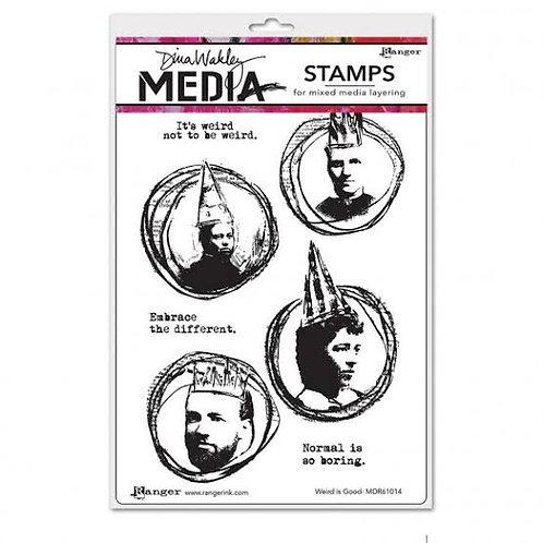Weird is good stamp-Dina Wakley