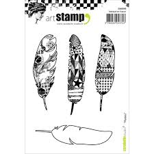 Carabelle Studio Art Stamp- Feathers