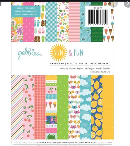 Sun & fun 6x8 paper pad