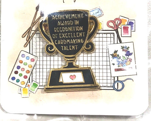 Enamel Pin-Achievement Award best card maker Trophy