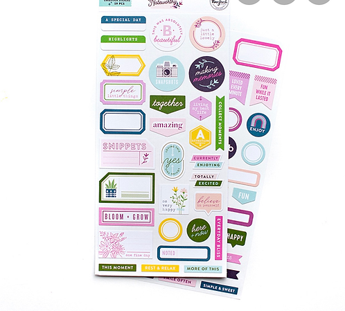 Noteworthy Cardstock Stickers