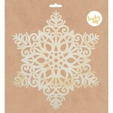 Large Snowflake wood Flourish -Lucky Dip Kaisercraft