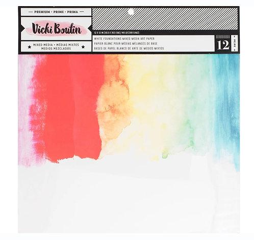 12x12 Foundation Paper pad- Vicki Boutin