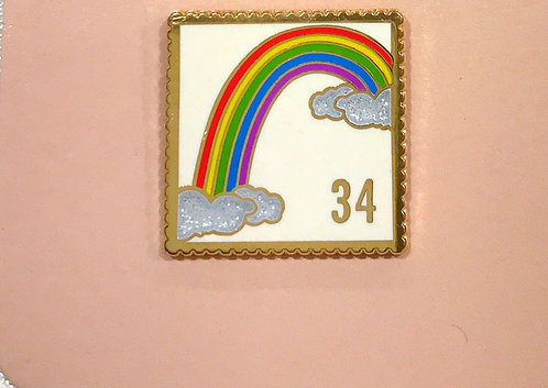 Enamel Pin- Rainbow Stamp