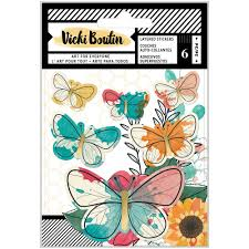 WildFlower and Honey Layered butterfly stickers
