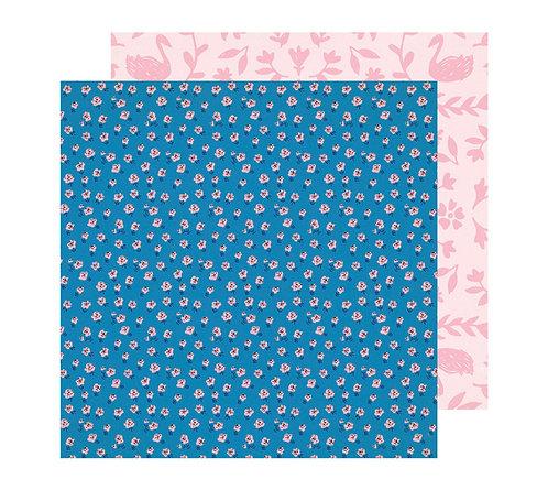 12x12 Pink truffle Paper- Sweet Story