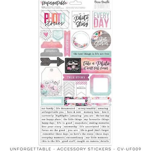 Unforgettable -sticker sheet