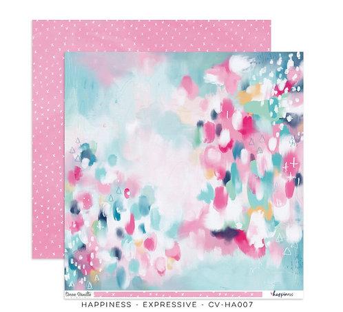 Expressive 12x12 Paper- Happiness- Cocoa Vanilla Paper