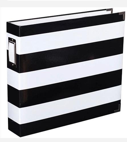 12x12 Black & White Stripe Album -D-Ring