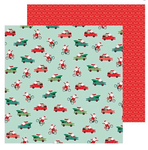 Santa on the go-Merry Little Christmas 12x12 paper