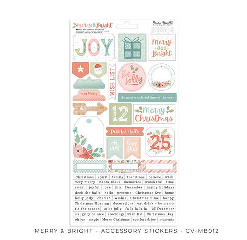 Merry & Bright  6x12 accessory stickers