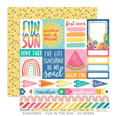Sunkissed-12x12 Patterned Paper- Fun In The Sun