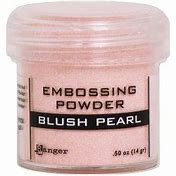 Embossing powder- Blushing Pearl