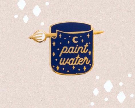 Enamel Pin-Paint water