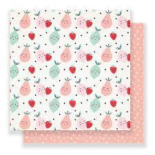 12x12 Main Squeeze Paper- Cute Pear