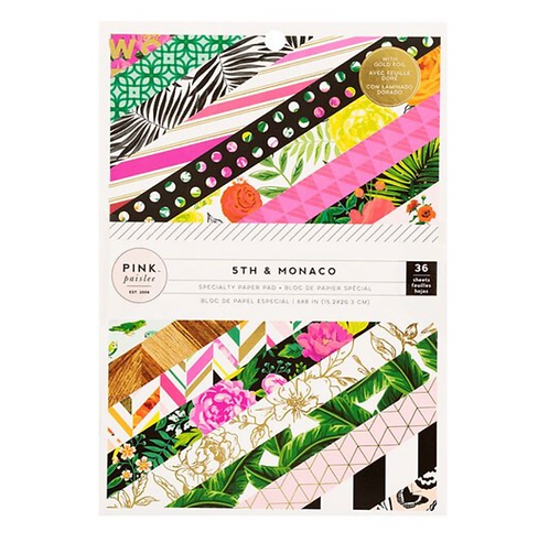 5th & Monaco 6x8 patterned paper pad