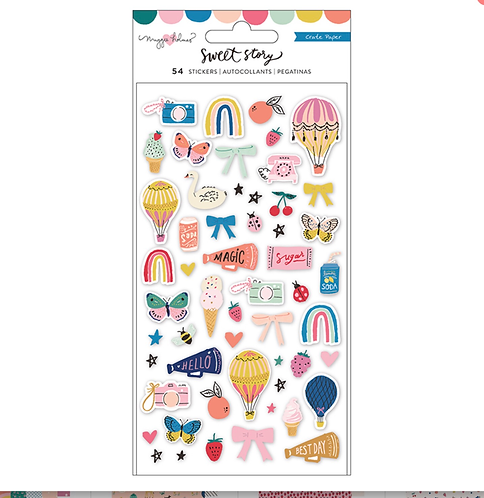 Sweet Story puffy stickers