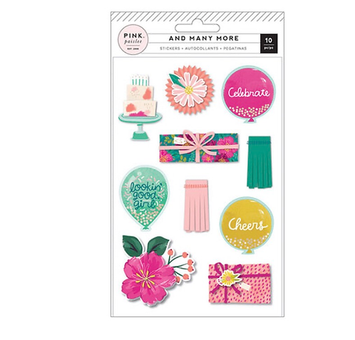 Layered stickers -And Many More-Pink Paislee