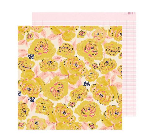 12x12 Buttercup Paper-Sweet Story