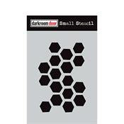 Arty Hexagons Stencil small