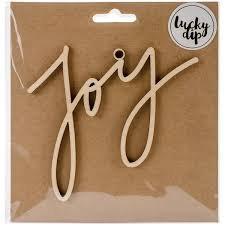 Small Script Joy wood Flourish -Lucky Dip Kaisercraft