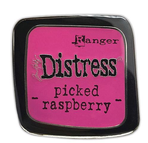 Tim Holtz Distress Enamel Pin -Picked Raspberry