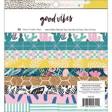 Good Vibes paper pad 6x6- Crate Paper