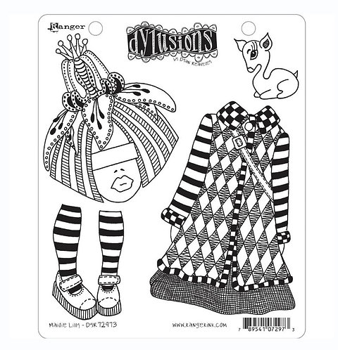 Maisie Lilly stamp-Dylusions