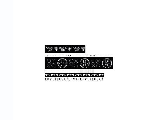 Studio Light Filled With Love Washi Tape NR. 18, 6/Pkg