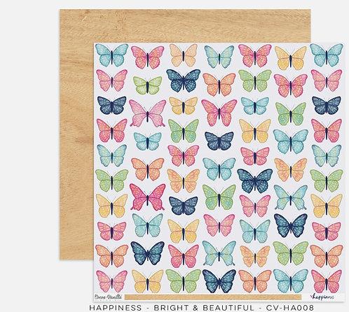 Bright & beautiful 12x12 Paper- Happiness- Cocoa Vanilla Paper
