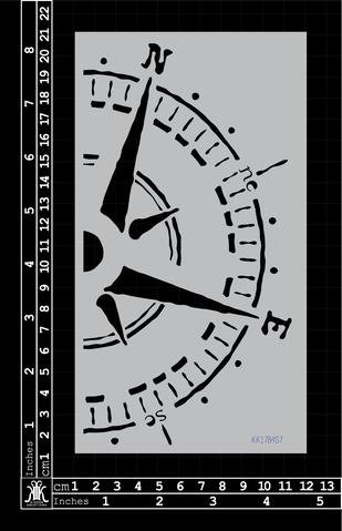 Compass Stencil large - Kinder Kreations