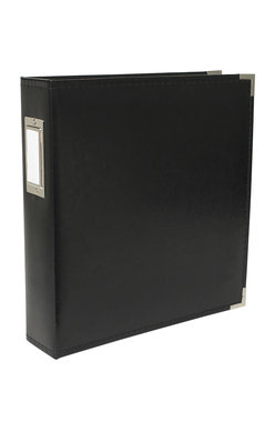 8.5 x 11 Black Leather Album -3 Ring