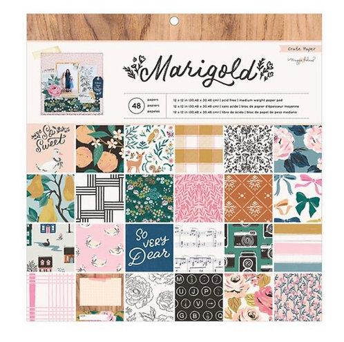 Marigold 12x12 paper pad Crate Paper