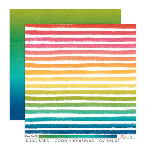 Sunkissed-12x12 Patterned Paper- Good Vibrations