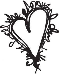 UmWow Scribble Heart Mask